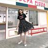 大码女装胖妹妹mm复古拼接裙子2019夏季遮肚子洋气显瘦连衣裙