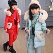 女童冬装棉服套装2018儿童加厚棉衣10中大童时尚马夹三件套13