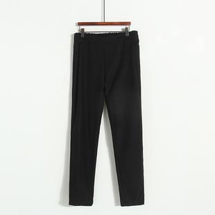 秋款女长裤高腰显瘦哈伦裤半松紧腰 纯色时尚呢长裤O812