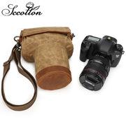 减震防摔二代相机单肩包100D单反数码内胆保护包帆布摄影包