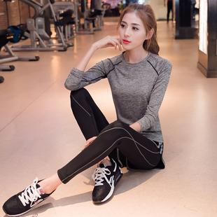 瑜伽服女网红健身服跑步运动健身房瑜伽服套装女2018秋冬网红
