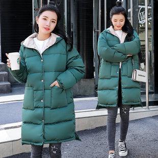 反季特卖棉服女2019中长款棉衣大码加厚学生冬装外套