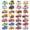 儿童玩具小汽车合金回力模型套装男孩惯性宝宝消防工程1-2-3-4岁