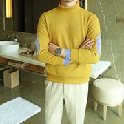 保暖假两件针织衫男士冬季厚款舒适时尚日系半高领毛衣潮