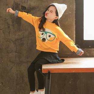 童装女童春装2019大童女装洋气时髦卫衣运动套装秋儿童两件套