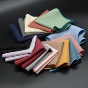 YSBYL正装 纯色商务西服口袋巾男士英伦 绒布小方巾手帕巾