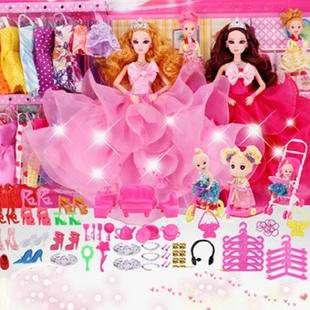 洋玩具女孩公主儿童音乐礼盒换装梦想豪宅布娃娃妙娃芭比比美套装