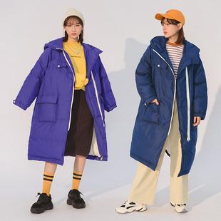 新年简约纯色中长款显瘦棉衣2018款冬