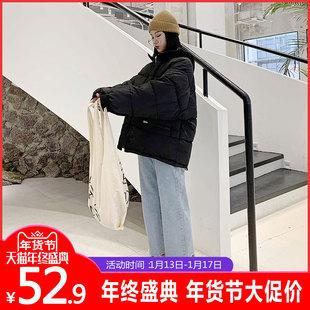 2018ins网红羽绒棉服女冬oversize面包服chic东大门短款外套