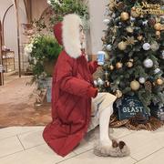 过膝羽绒棉服女冬2018菱格面包服棉袄显瘦中长款红色棉衣外套
