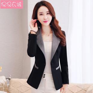2021秋装长袖小西服女韩版修身休闲小个子西装女短款外套上衣