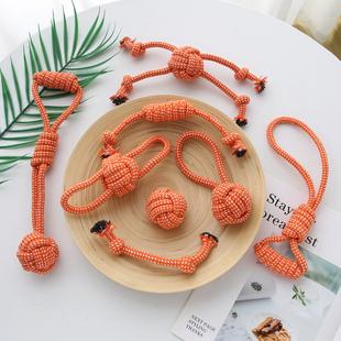 狗狗玩具磨牙耐咬绳结洁齿宠物棉绳玩具泰迪比熊博美中小型犬用品