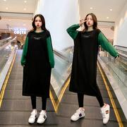 中国孕妇秋装连衣裙上衣春气孕妇装潮妈冬装套装秋款外出时尚款网