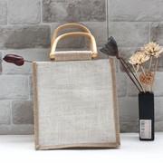 可手绘空白麻袋 森系麻手提购物 复古文艺饭盒环保袋