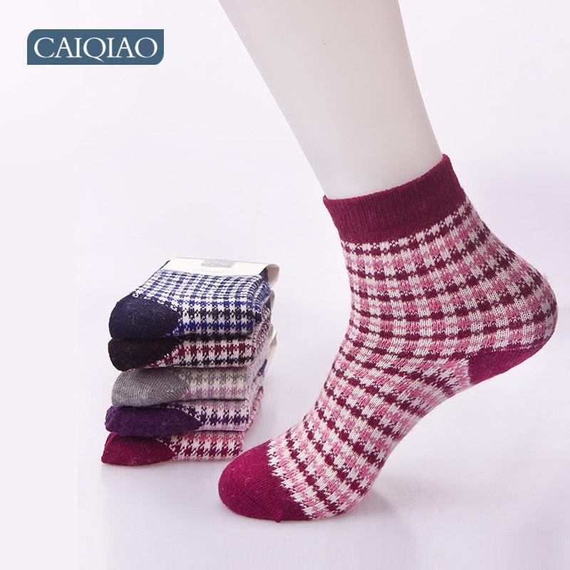 彩桥正品冬天袜子 女兔羊毛袜 女士保暖袜 兔毛袜 加厚袜子 包邮