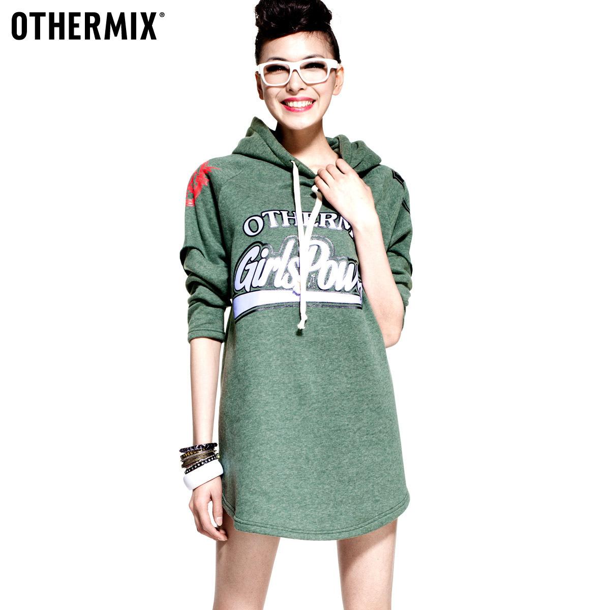 Толстовка женская Othermix 12q10003 Манжеты С надписями Классический рукав