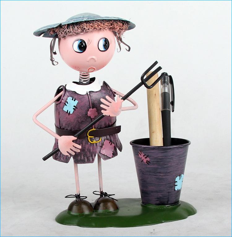 彩色铁皮娃娃 家具装饰 装饰摆件现代简约 个性礼物 送女生