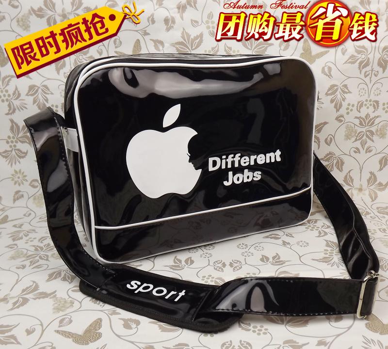 Сумка Студент лакированная кожа сумка сумка Apple плечи мода новый стиль отдыха сумки Диагональ мужчин и женщин бума Для молодых мужчин Сумка через плечо Другие материалы