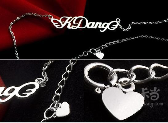 Ri Mei DIY custom sterling silver key chain letters key name can be diamond factory direct