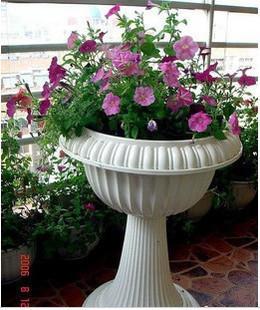 欧式罗马柱风格 高脚塑料绿萝加厚花盆婚庆中大码图片