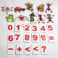 幼儿园小学教师教育教具 黑板磁性贴 卡通人型昆虫创意教学磁贴片