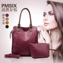 2013 summer new handbag Miss Han Banchao commuter leisure bag crocodile pattern handbag shoulder bag