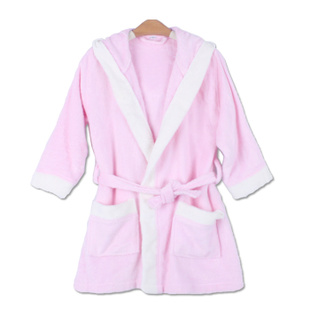 Pedicled bamboo bath robe with hood children's bathrobes for children baby gown Pajamas DL513