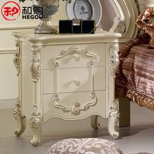 和购奢华家具 收纳床头柜 实木 法式田园床头柜 欧式床头柜 FSW98图片