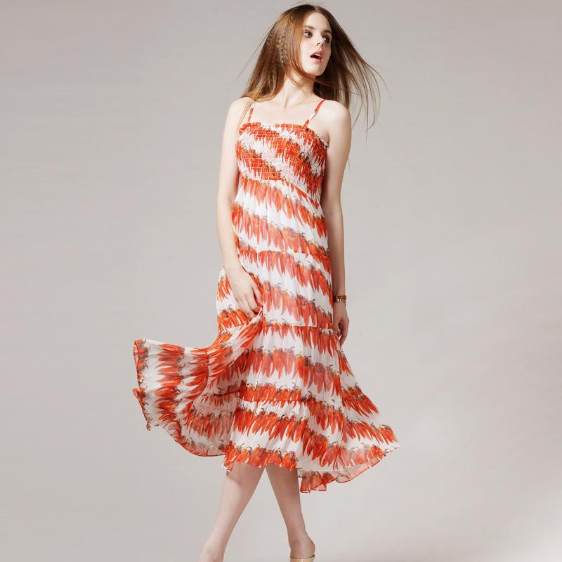 Женское платье Leiyu classic lyssdr7011 Лето 2012 Шифон