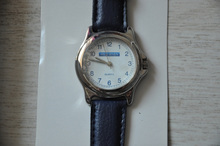 Seven stars mild seven blue strap quartz watch