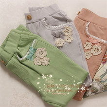 Cheek girls pants spring model of the new 2014 south Korean children's clothing Han Guoyuan single children's clothing han edition children's wear three color pants
