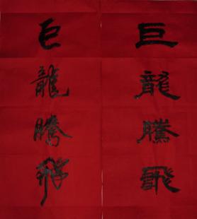 春节特卖 书法家手写春联 春联定制 巨龙腾飞