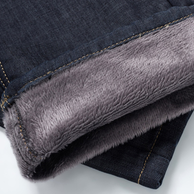 Accounting for wind plus thick velvet long pants men jeans men straight men jeans long pants to keep warm blue N03