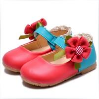 新款波西米亚女童公主皮鞋  花朵女童单鞋 女鞋 小公主一朵花皮鞋