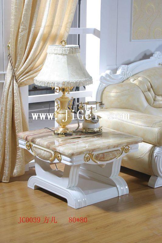 Чайный столик Деревенский стиль Без колесиков Отделка из дерева Мрамор
