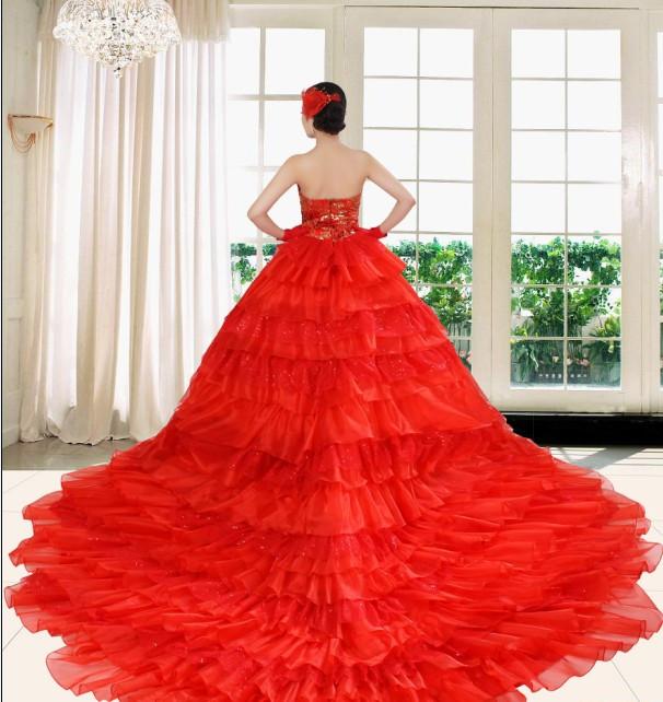 Свадебное платье Love show ladies 2436 AY- Осень 2012 Органза Длинный шлейф Модные