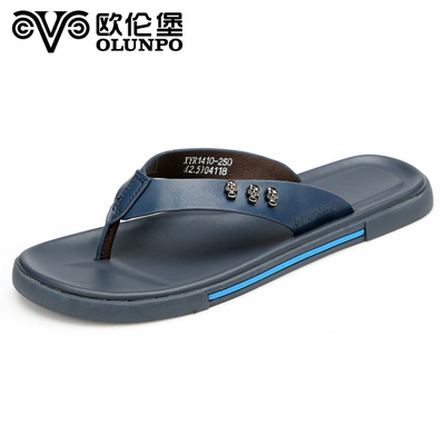 England men's sandals solid color men's casual slip the new trend with flat sandals and slippers beach slippers breathable