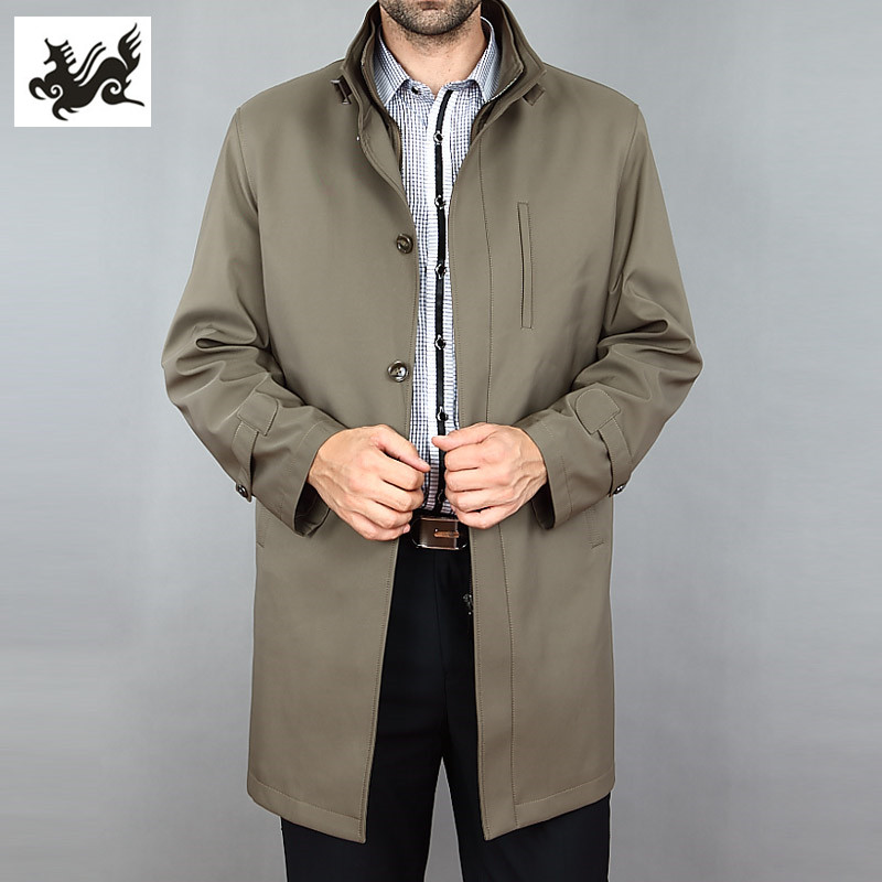 春季雅戈爾新款風衣夾克活里活面男士外套中長款 中年圖片