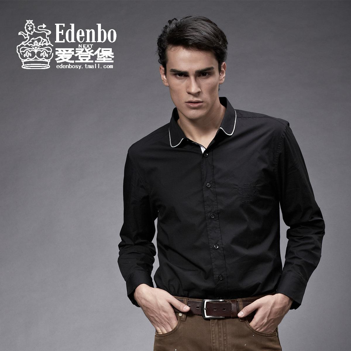 爱登堡 正品 英伦时尚新款 衬衣 男装上衣 衬衫 男 15