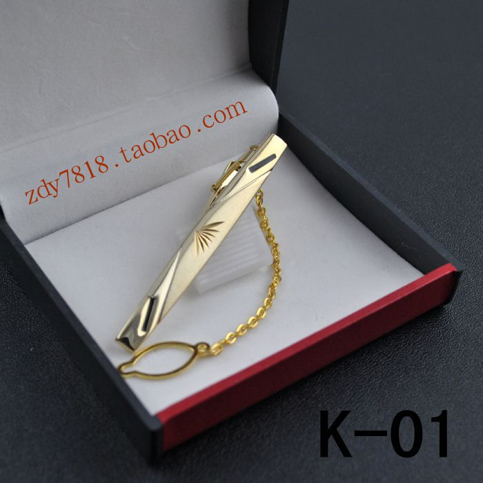 Зажим для галстука Полноценное золота и серебра пакет почты мужчин Корейский профессиональный платье галстук Мода изысканные узел Свадьба в штучной упаковке, заколка для галстука