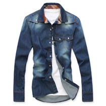 Genuine 2012 autumn new cowboy shirt male self-day wave of Korean men casual cotton long sleeve shirt men