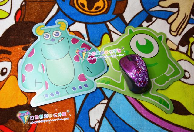 现货 迪士尼 怪物电力公司怪兽大学苏利文大眼怪mike毛怪 鼠标垫