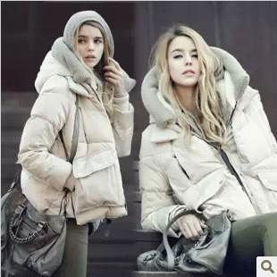 2013冬时尚工装羽绒棉服 女 短款加厚保暖棉衣潮外套