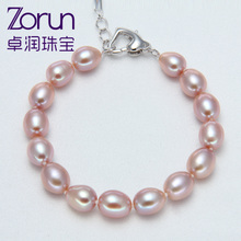 Package mail ZhuoRun jewelry Natural purple freshwater pearl bracelet 8-9 mm authentic meters female money really fashion