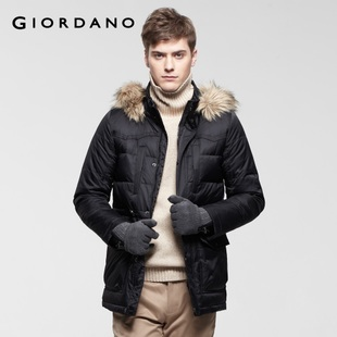 Waist bag 2012 Giordano jacket men decoration Teflon long down jacket 01071519