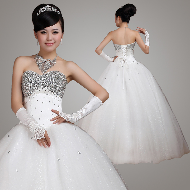 锋悦屿2011最新欧式绑带 时尚亮钻 纯手工订制 婚纱R_8250