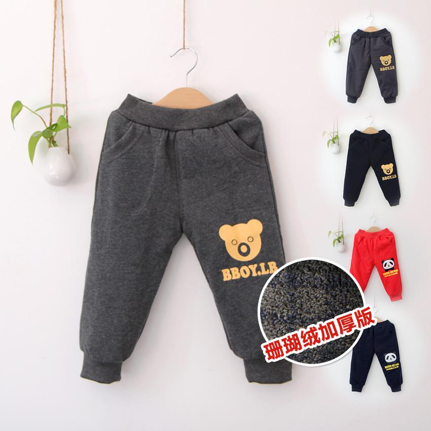 детские штаны 0951 Корейская версия 100 хлопок Для отдыха % С кожаным поясом на талии