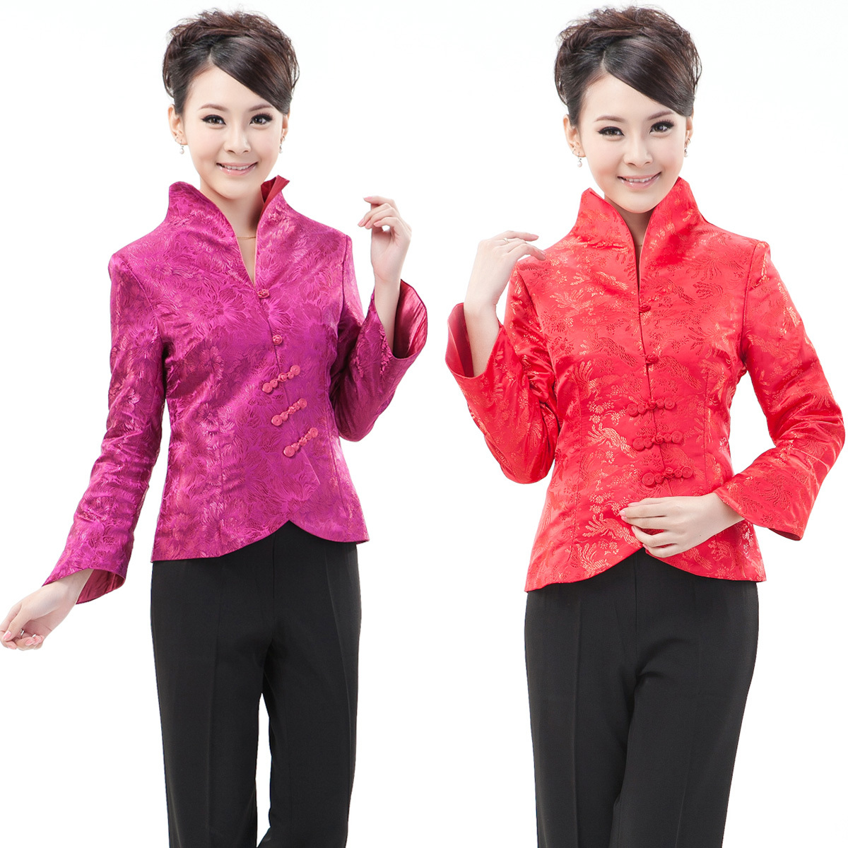 Блузка в китайском национальном стиле Wan Jia Yi Lai s0977