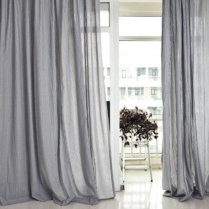 客厅窗帘条纹客厅竖条纹窗帘效果图图片9