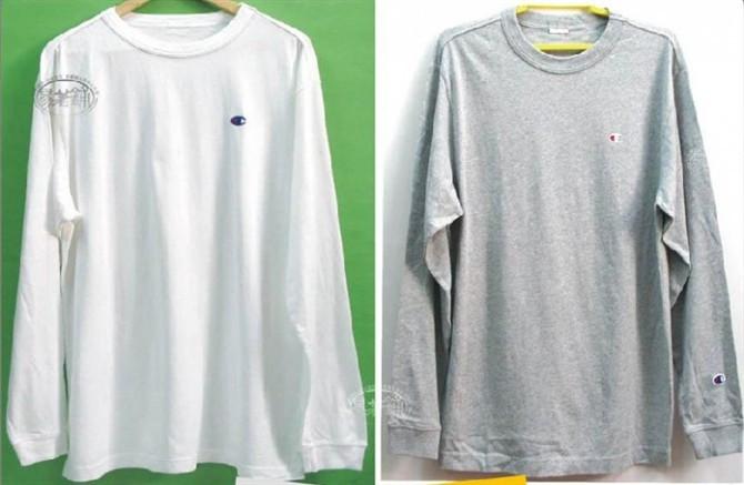 Спортивная футболка Other U.S. brands 20110306 CHAMPIAN Свободный Воротник-стойка Длинные рукава (рукава ≧ 58см) 100 хлопок Для спорта и отдыха Воздухопроницаемые % Логотип бренда
